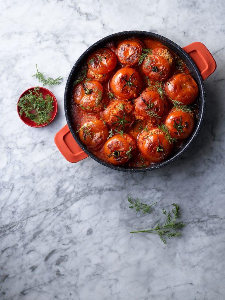 מתכון לעגבניות ממולאות בורגול