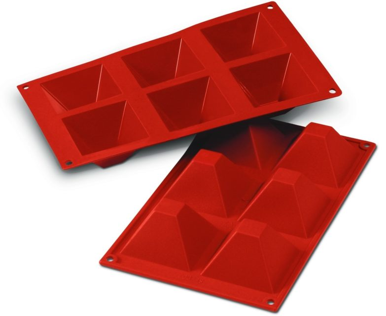 תבנית סיליקון פירמידה 6 שקעים