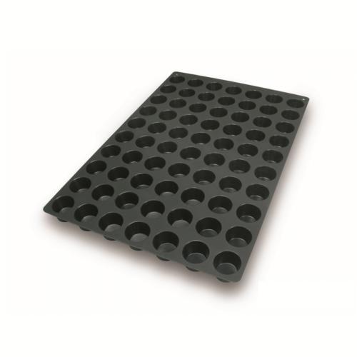 """תבנית סיליקון 40X60 ס""""מ מיני מאפינס 70 שקעים"""