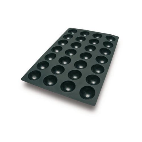 "תבנית סיליקון 40X60 ס""מ חצי כדור 28 שקעים"