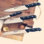 סכין סנטוקו עם שקעים  MAITRE
