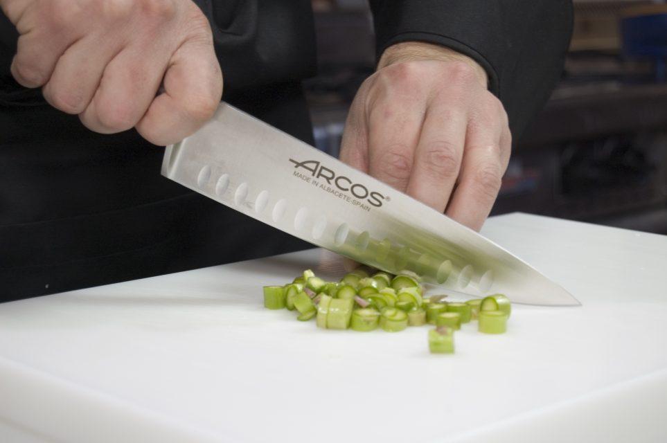 סכין שף עם שקעים מחוזקת   KYOTO