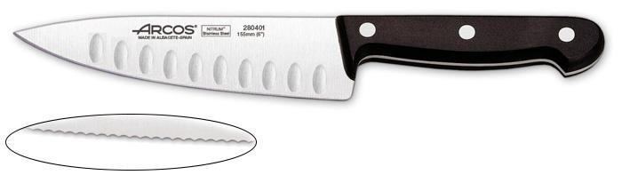 סכין שף משוננת ידית בקלית  Universal