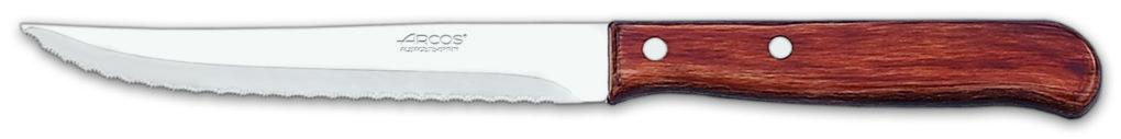 סכין סטייק משוננת ארוכה ידית עץ