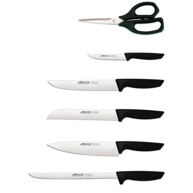 סט 5 סכינים ומספריים בבלוק עץ Niza