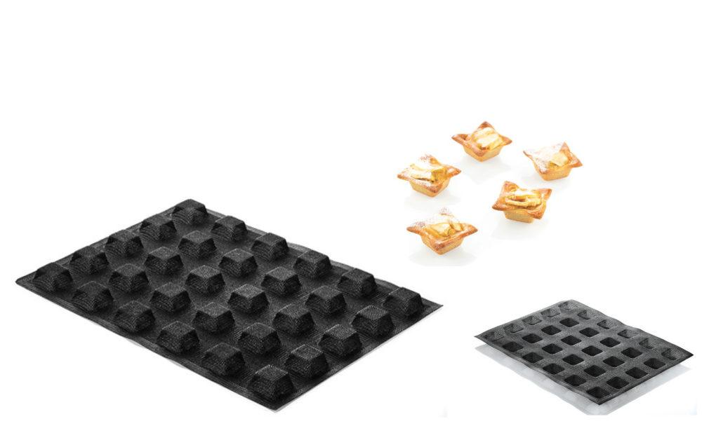 זוג תבניות סיליקון 30 שקעים Square מיקרופייבר