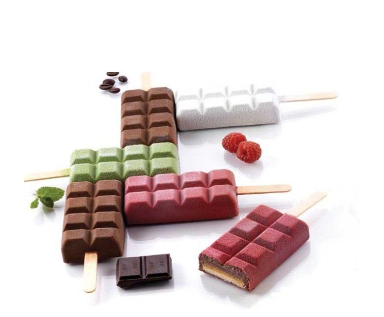 סט סיליקון להכנת ארטיק טבליות שוקולד 12 שקעים ומגש