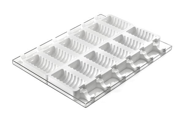 סט סיליקון להכנת ארטיק טנגו גלים 12 שקעים + מגש
