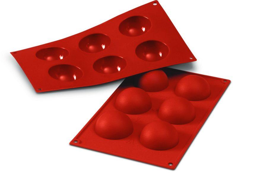 תבנית סיליוקון חצי כדור 6 שקעים