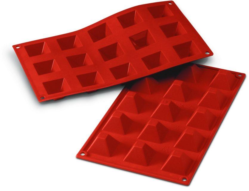 תבנית סיליקון מיני פירמידה 15 שקעים