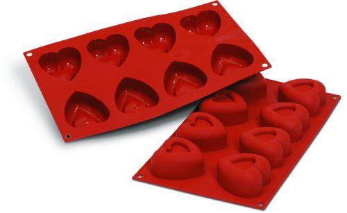 תבנית סיליקון לבבות 8 שקעים