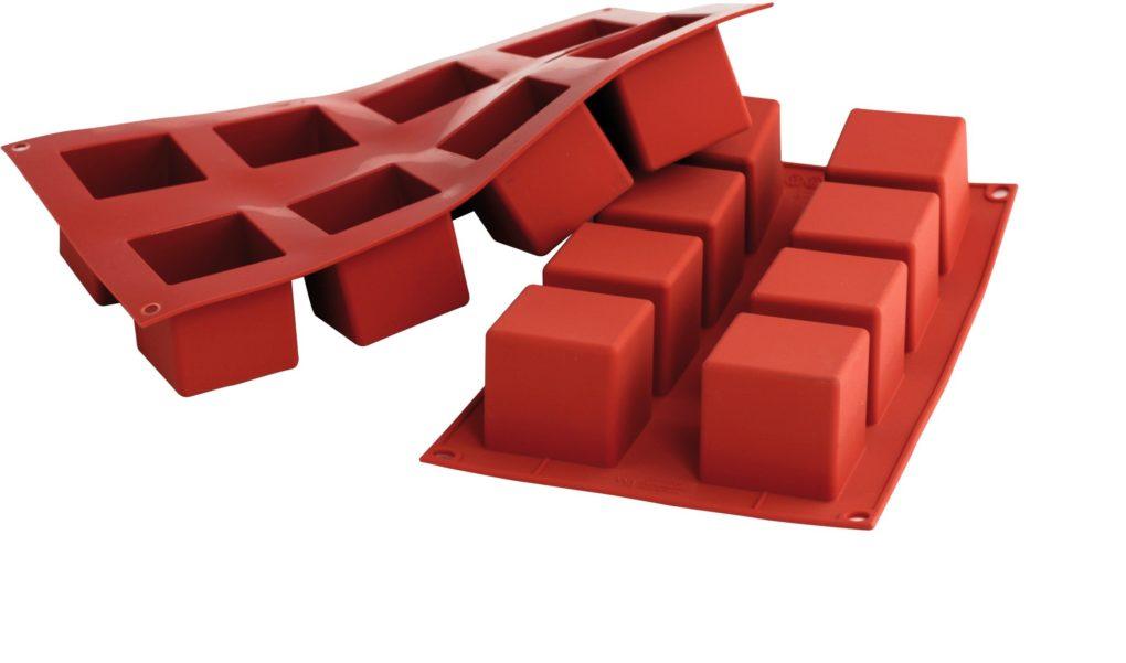תבנית סיליקון קוביות עמוקות 8 שקעים