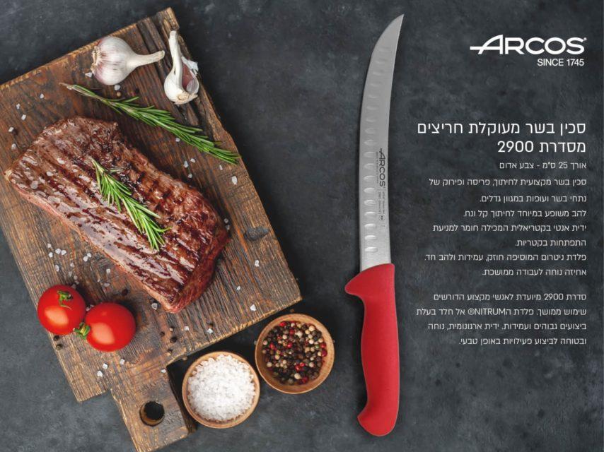 סכין בשר מעוקלת חריצים 2900