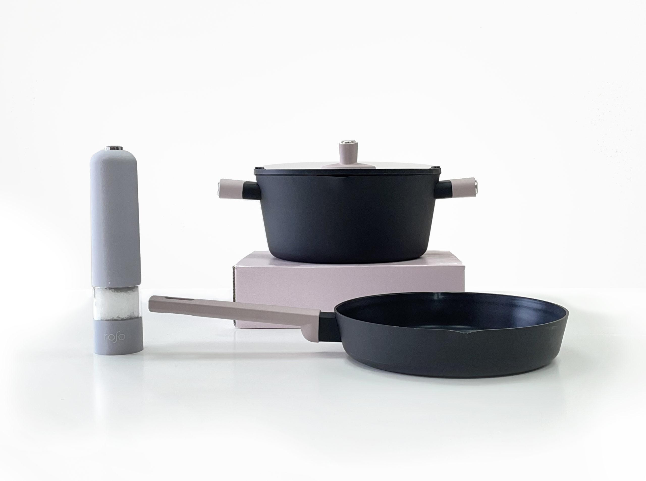 סט 3 כלים הכולל סיר מחבת ומטחנה Mood Collection Beige